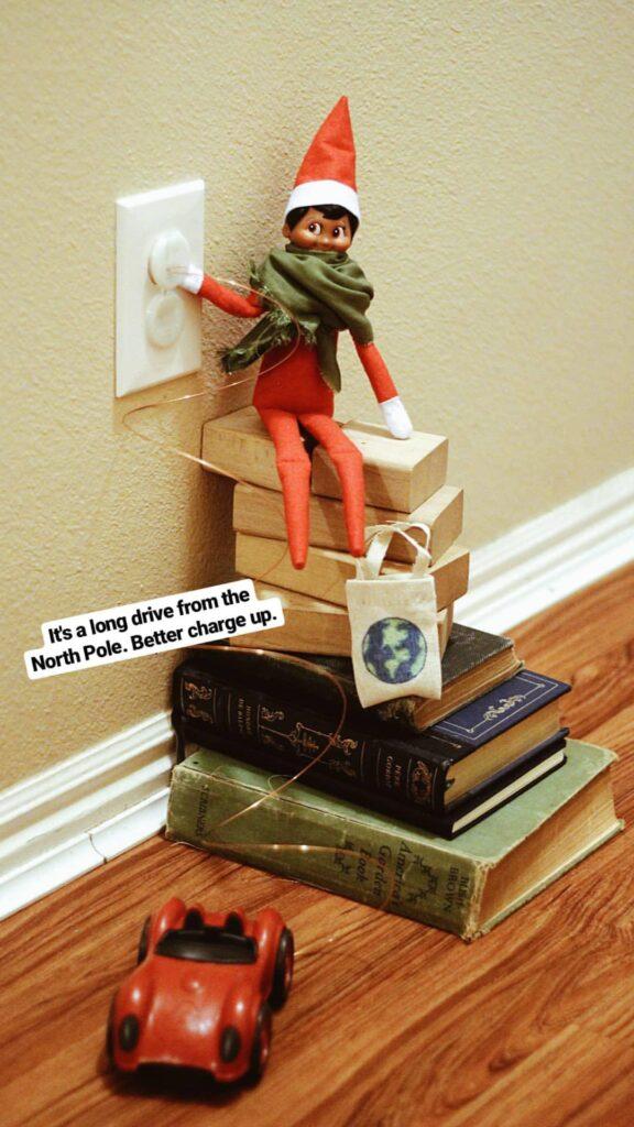 Zero waste alternative elf on the shelf